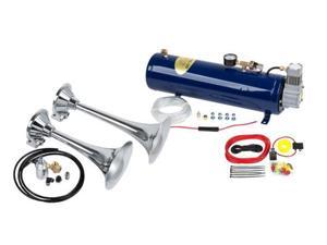 2-Trumpet Train Air Horn Kit for Trucks: Complete 12v System Includes Everything