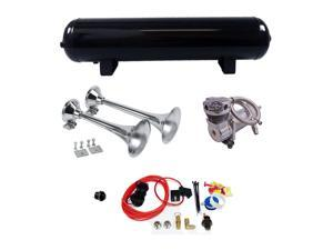 """K9 - Dual Train Horn Package 15"""" and 17"""" Horns w/ 200 PSI 4 Gal Tank"""