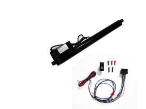 Black 12 Inch Linear Actuator Kit:12-v w/ 225 lbs max load:Includes Switch Kit