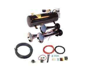 3-Trumpet Train Air Horn Kit -110 PSI Air System 150dB+
