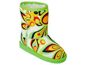 DAWGS LOUDMOUTH Kid's Australian Style Boot SHAGADELIC WHITE 10-11 M US