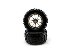 Redcat Racing 08045 2.8 Off Road Tire with 12mm Hex Rim 2 Pc, Wheels for Volcano