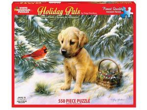White Mountain Puzzles Holiday Pals 550 Piece Jigsaw Puzzle