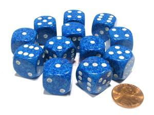 Speckled 16mm D6 Chessex Dice Block (12 Dice) - Water