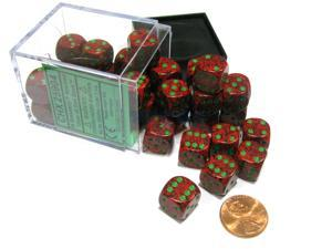 Speckled 12mm D6 Chessex Dice Block (36 Dice) - Strawberry