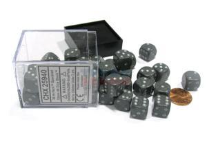 Speckled 12mm D6 Chessex Dice Block (36 Dice) - Hi-Tech