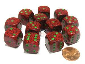 Speckled 16mm D6 Chessex Dice Block (12 Dice) - Strawberry