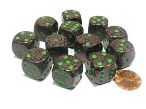 Speckled 16mm D6 Chessex Dice Block (12 Dice) - Earth