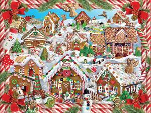 White Mountain Puzzles Gingerbread Lane - 1000 Piece Jigsaw Puzzle