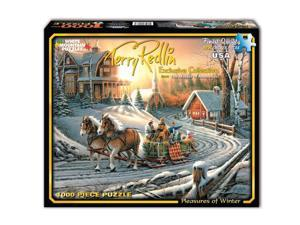 White Mountain Puzzles Pleasure of Winter - 1000 Piece Jigsaw Puzzle