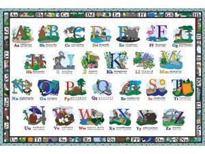 White Mountain Puzzles 2' x 3' ABC Large Floor Puzzle - 24 Piece Jigsaw Puzzle