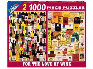 White Mountain Puzzles For the Love of Wine 2-in-1 - 1000 Piece Jigsaw Puzzle