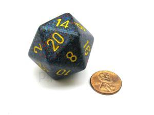 34mm Large D20 Speckled Chessex Dice, 1 Die - Twilight