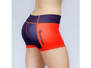 Comp Shorts (Orange/Purple) Large - For Yoga And Crossfit Exercise