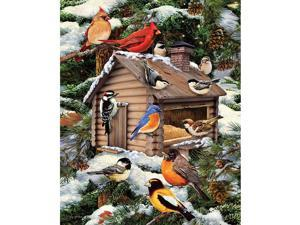 Log Cabin Birdhouse 1000 Piece Puzzle by White Mountain Puzzles