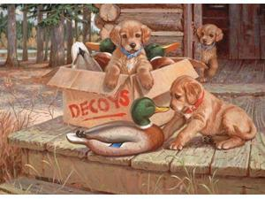 Doggie Decoys 1000 Piece Puzzle by Outset Media