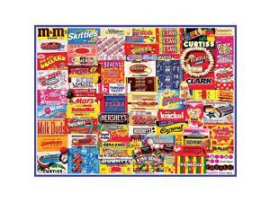 Vintage Candy Wrappers 300 Piece Puzzle by White Mountain Puzzles