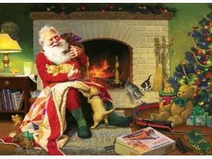 Santas Favorite Quilt 1000 Piece Puzzle by Outset Media