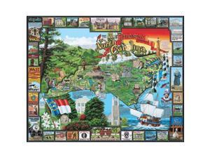 North Carolina Historic 1000 Piece Puzzle by White Mountain Puzzles