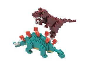 Nanoblock Stegosaurus and Tyrannosaurus (T-Rex) Model Kit