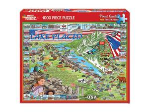 Lake Placid New York 1000 Piece Puzzle by White Mountain Puzzles