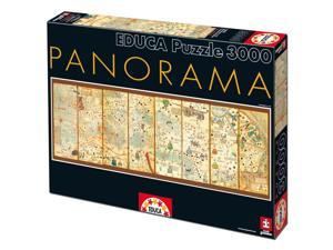 Mappa Mundi 3000 Piece Panoramic Puzzle by John N. Hansen