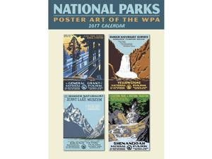 Ntnl Parks WPA Poster w/Grid Wall Calendar by Ziga Media, LLC