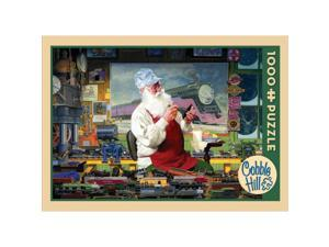Santas Hobby 1000 Piece Puzzle by Outset Media
