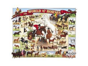 World of Horses 1000 Piece Puzzle by White Mountain Puzzles