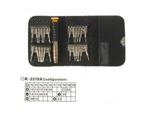 Kaisi Versatile Screwdriver Set Repair Kit with Leather Case for Smartphones and Digital Devices