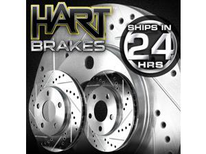 [FRONT KIT]  2 Platinum Hart *DRILLED & SLOTTED* Front Disc Brake Rotors - 2768