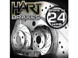 [FRONT KIT]Platinum Hart *DRILLED & SLOTTED* Brake Rotors +CERAMIC Pads- 2768