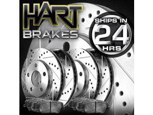 [FRONT+REAR KIT]Platinum Hart -*DRILL & SLOT* Brake Rotors  +CERAMIC Pads- 2785