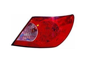 2007-2008 Chrysler Sebring::Sedan Passenger Side Right Outer Red and Clear Tail Lamp Lens and Hsng Sedan