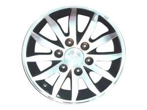 2006-2012 Kia Sedona OEM  17x6.5 Alloy Wheel, Rim Black Painted with Machined Face - 74639