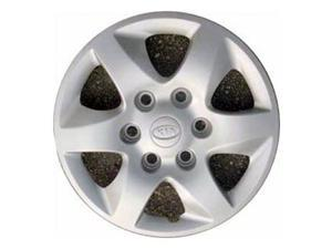 2008-2010 Kia Sedona OEM  16 Inch Hubcap, Wheel Cover Silver Full Face Painted - 66027