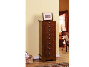 W Unlimited 7 Drawers Jewelry Armoire, Coffee