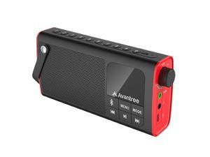 Avantree 3-in-1 Portable Bluetooth Speaker with FM Radio, SD Card, Outdoor Indoor, Auto Scan & Save, 20H Radio Time with Replaceable Battery - BTSP-850-BLK