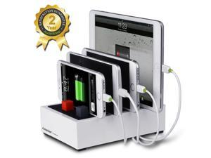 Avantree Powerhouse 4-Device USB Charging Station, High Capacity Cord Management