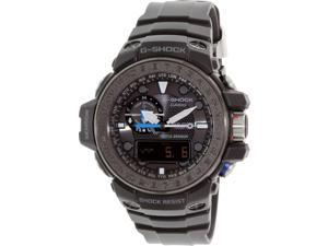 Casio GWN1000C-1ACR Men's Gulfmaster Resin Black Case Resin Strap Black Band Black Dial Watch