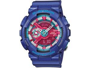 Casio GMAS110HC-2ACR Women's G-Shock S Series Resin Case Resin Strap Purple Band Multicolor Watch