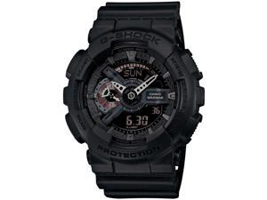 Casio GA110MB-1ACR Mens G-Shock Large Series Resin Case Resin Black Band Black Dial Watch