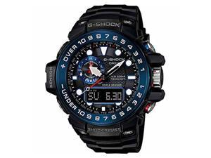 Casio GWN1000B-1BCR Men's Master of G Gulfmaster Ana-Digi Stainless Steel Black Resin Strap Band Black Dial Watch