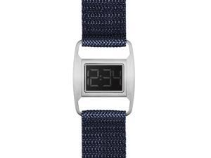 Void PXR5-BR/NY Women's Stainless Navy Nylon Band Black Dial Watch