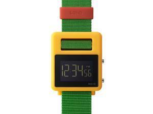 Void SOND-YGR Unisex Sond Digital Green Nylon Band Black Dial Watch