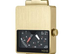 Void V02-GO/MG Unisex Stainless Gold Bracelet Band Black Dial Watch