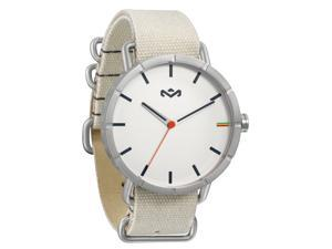 House of Marley WM-JA004-DB Mens Hitch White Canvas Watch