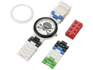 LEGO 9007552 Unisex Skull White Adult Plastic Strap Quartz Watch
