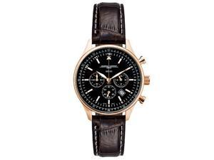 Jorg Gray JG6500-62 Unisex Chronograph Brown Leather Band Black Dial Watch