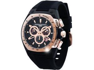 Jorg Gray JG8300-21 Men's Date Black Rubber Band Black Dial Watch